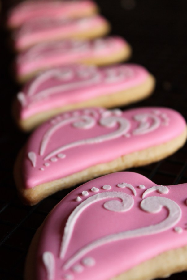 Heart Cookies All In A Row