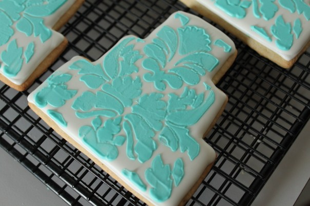 Tiffany Blue Wedding Cake Cookies