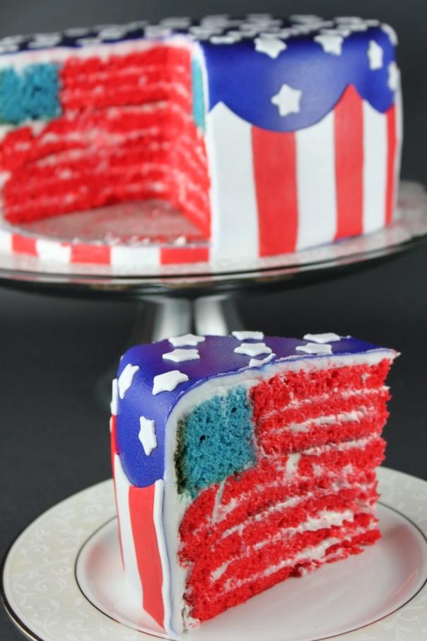 Double American Flag Cake