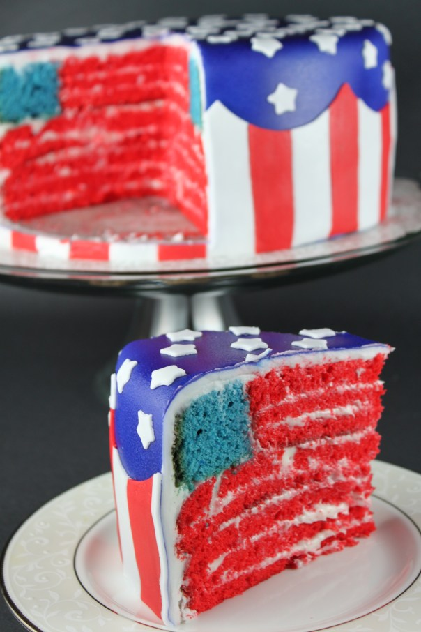 Double American Flag Cake