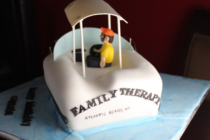 Fishing Boat Cake Rear View