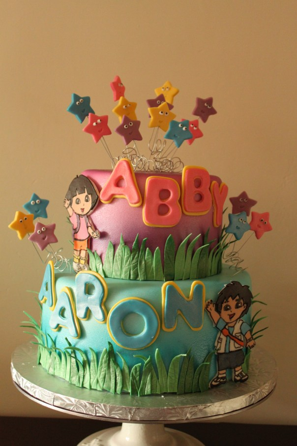 Tremendous Dora And Diego Birthday Cake Lil Miss Cakes Personalised Birthday Cards Paralily Jamesorg