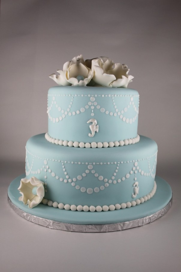 Pearl Swag Stencil Cake