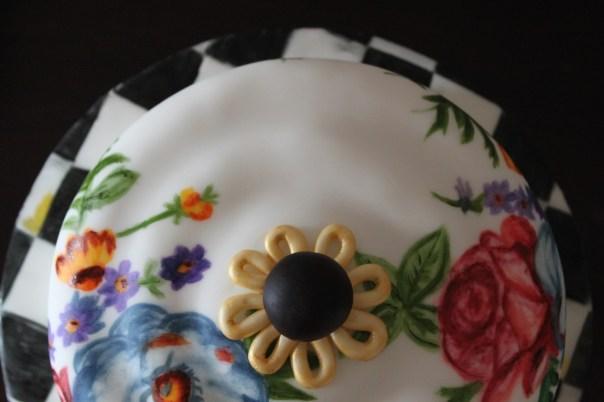 Top View of MacKenzie Childs Inspired Cake