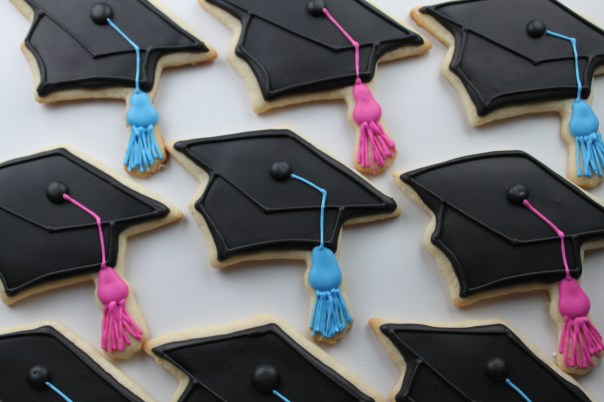 Graduation Cap Sugar Cookies