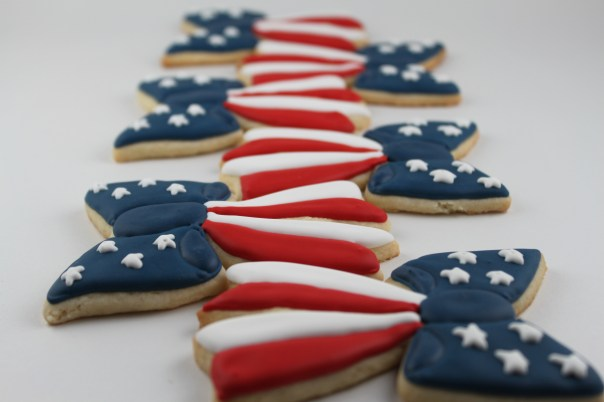 American Flag Bow Cookies