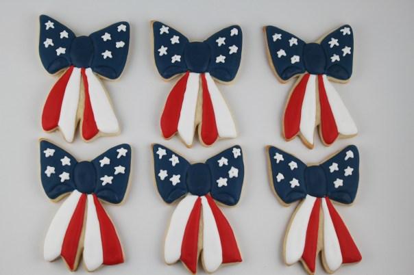 Patriotic Bow Cookies