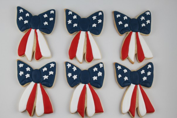 Patriotic Bow Cookies
