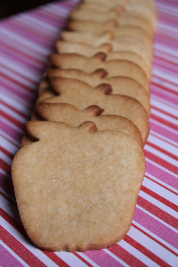 Row of Honey Sugar Cookies