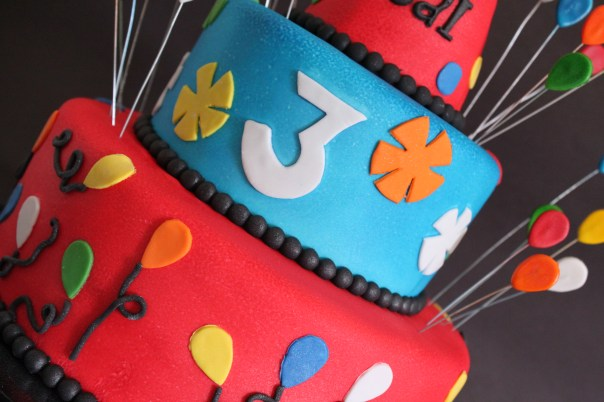 Party Hat Cake Close Up
