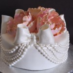 Draped Pearl Cake