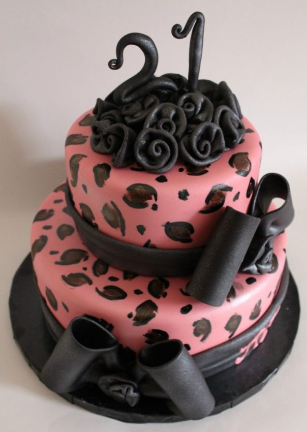 Leopard Print Cake Without Fondant
