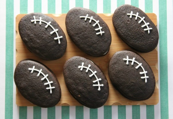 Football Laces Piped on Whoopie Pies