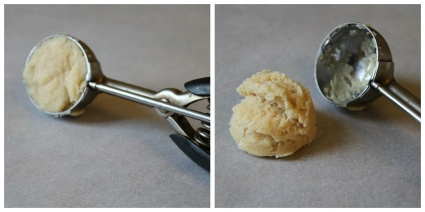 First Steps in Forming Ice Cream Scoop Cookies