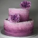 Purple Ruffle Ombre Cake
