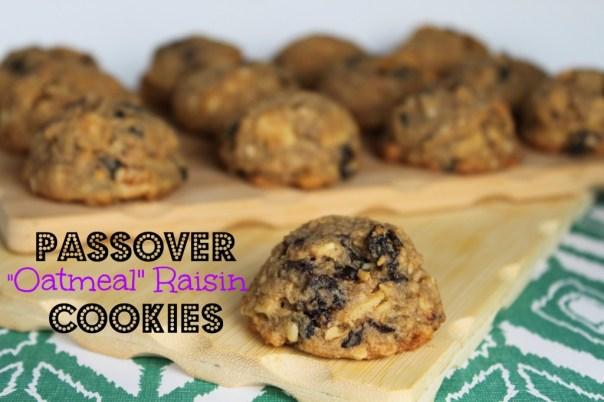 """Passover """"Oatmeal"""" Raisin Cookies"""