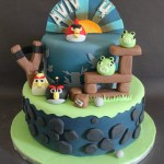 Angry Birds Birthday Cake