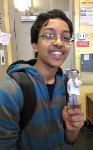 Arvind and his gum paste figure