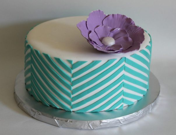 Offset Chevron Cake