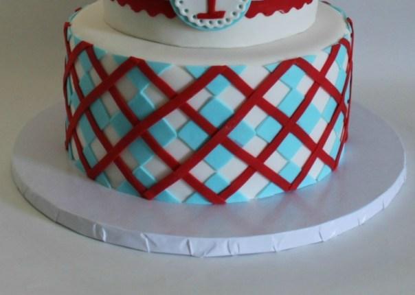 argyle fondant cake