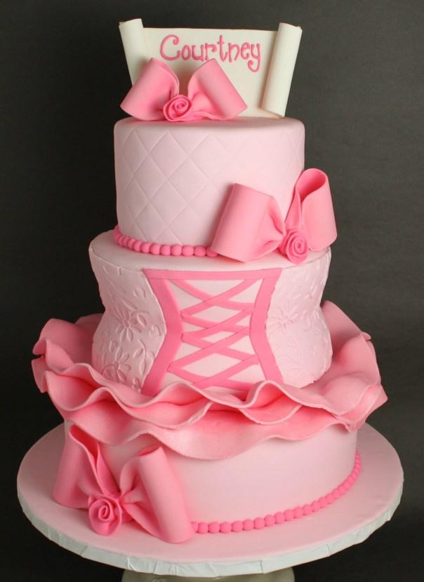 Ballerina Bat Mitzvah Cake