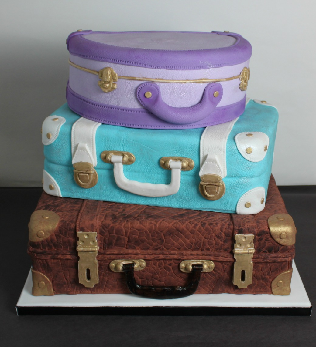 Stacked Luggage Wedding Cake Lil Miss Cakes