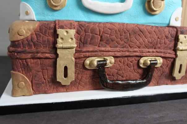 Alligator Luggage Cake