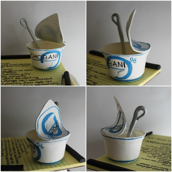 Gumpaste Chobani Yogurt Container