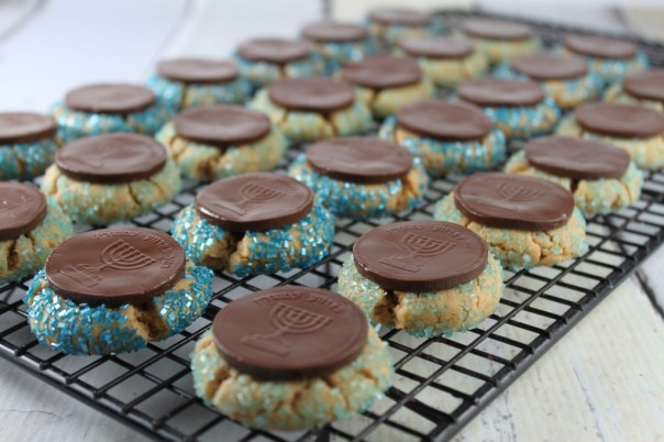 Blue Sugar Peanut Butter Cookies