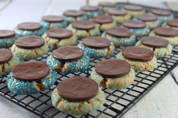 Blue Sugar Peanut Butter Cookies