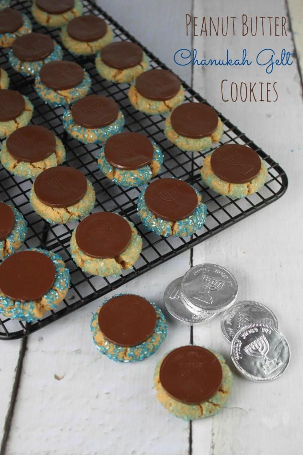Peanut Butter Chanukah Gelt Cookies