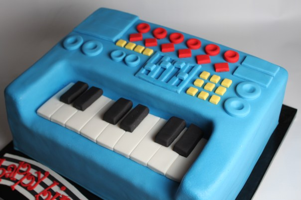 Musical Keyboard Birthday Cake