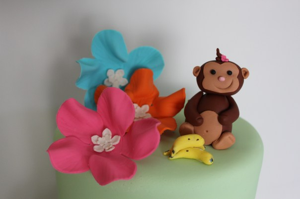 Girly Gum Paste Monkey