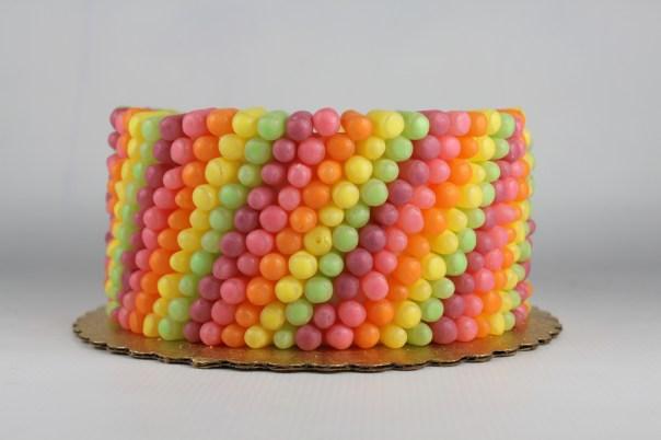 Mike and Ike Rainbow Candy Cake