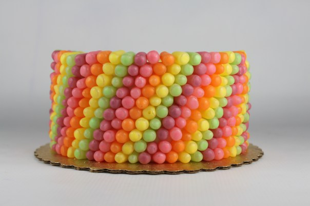 Mike and Ike Rainbow Candy Cake