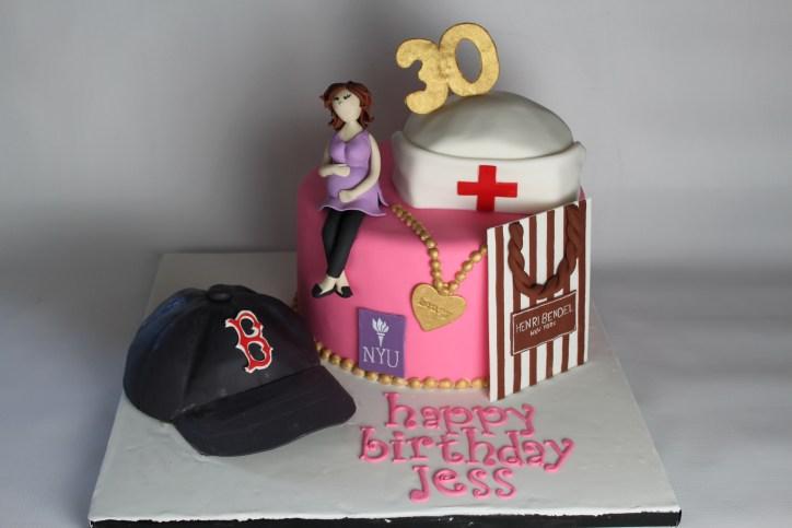 30th Birthday Collage Cake