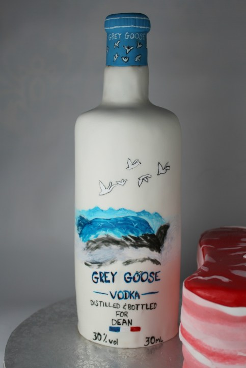 Vodka Bottle Made of Cake