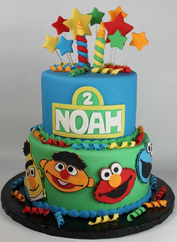 Sesame Street Birthday Cake Lil' Cakes