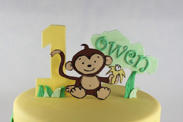 Gum Paste Monkey Cake Topper