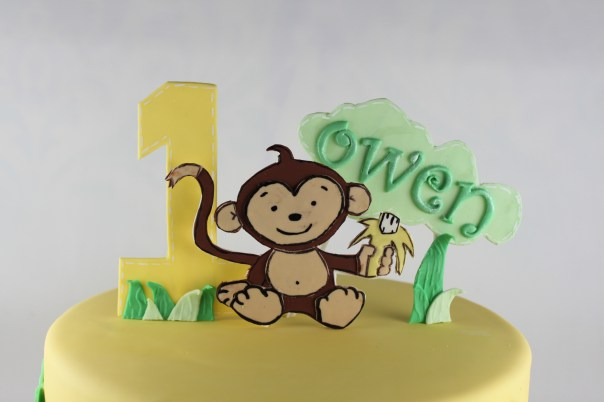 Gum Paste Monkey Cake Topper