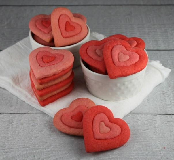 Ombre Heart Sugar Cookies