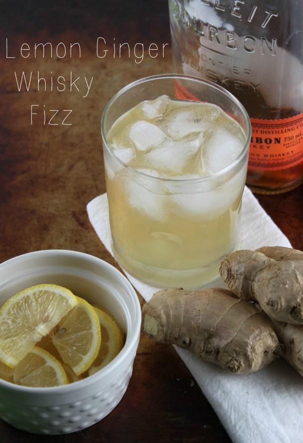 Lemon Ginger Whisky Fizz