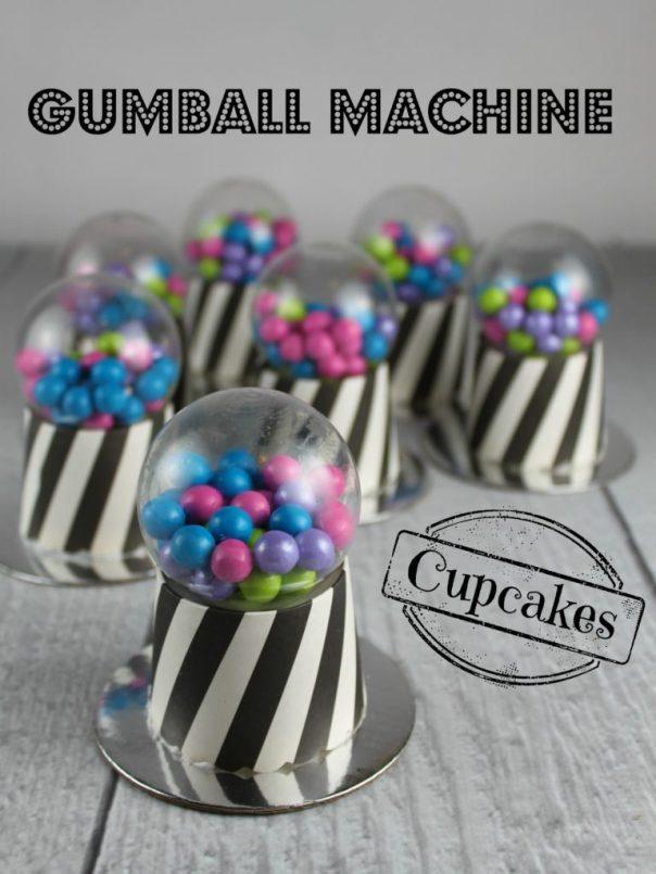 Gumball Machine Cupcakes