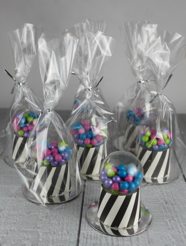 Wrapped Gumball Machine Cupcakes