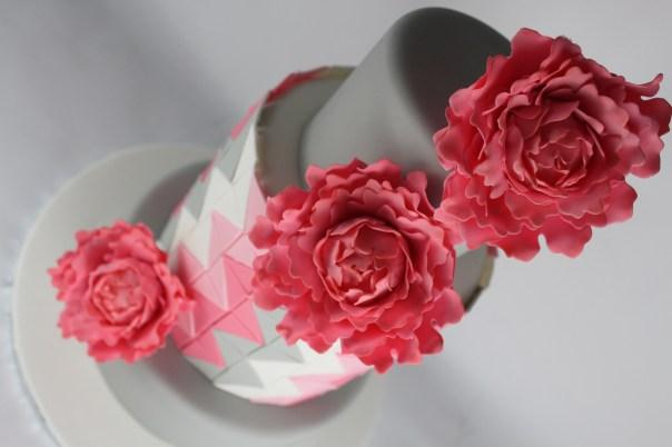 Pink Gum Paste Peonies