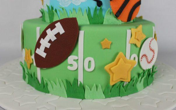Football Field Cake Tier