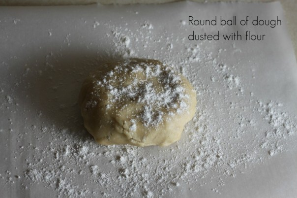 Cookie dough dusted with flour