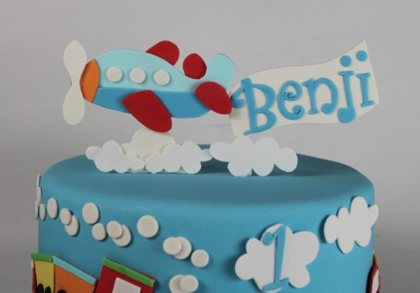 Airplane Fondant Cake Topper