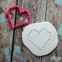 8 Bit Heart Cutter | Lil Miss Cakes