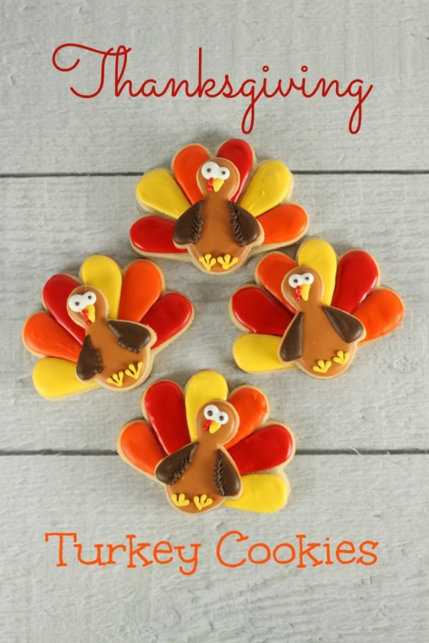 Thanksgiving Turkey Sugar Cookies | Lil Miss Cakes
